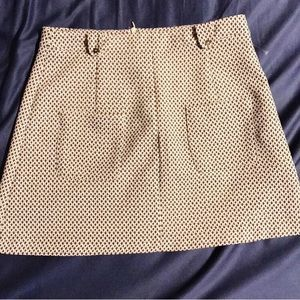 Zara Trafaluc pattern front pockets skirt.
